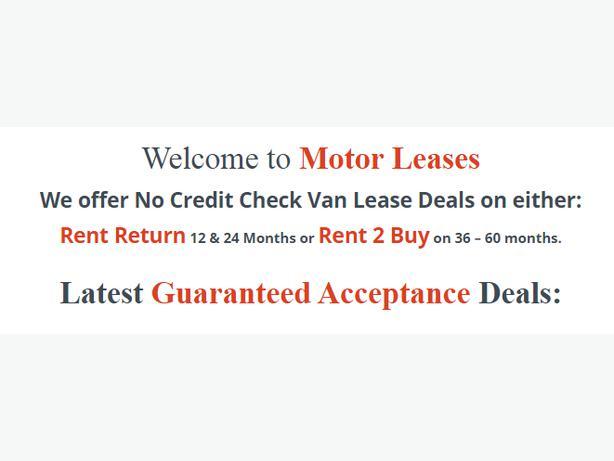 Van Leasing With Bad Credit