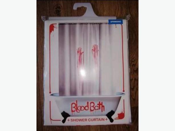 Blood shower/bath curtain