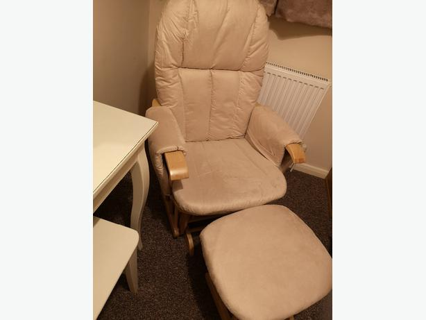 Rocker/glider chair and stool