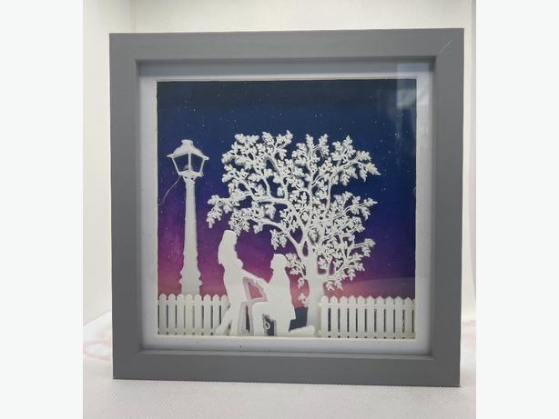 Handmade Lighted Shadow boxes