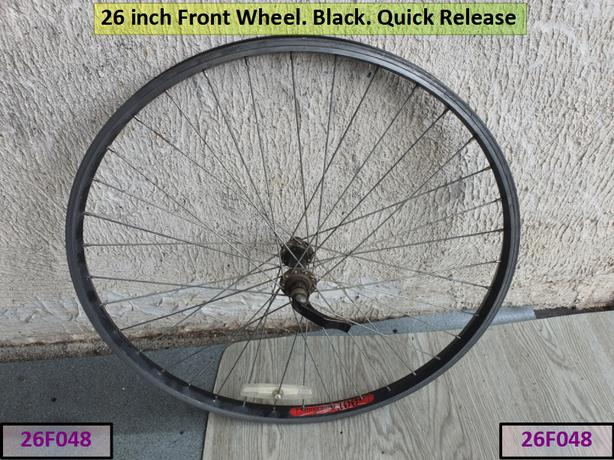 26 inch Front Wheel. Black. Quick Release.