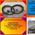 24 inch Bike wheel set. Black. 6 cog.