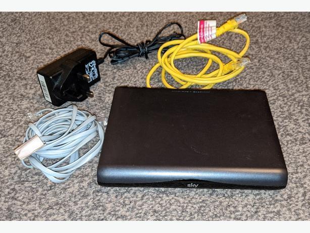 Sky sagemcom black wi-fi router