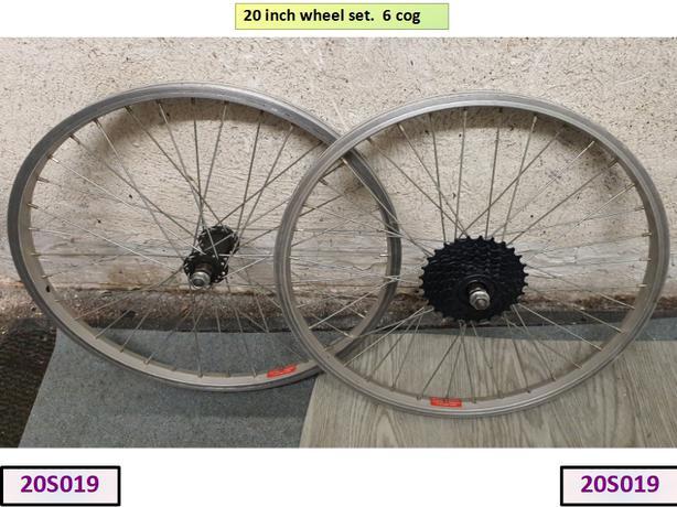 20 inch wheel set. 6 Cog