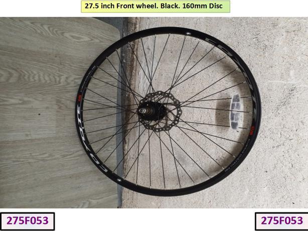 27.5 inch Front Wheel. Black. 160mm di