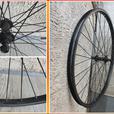 26 inch Front Wheel. Black.