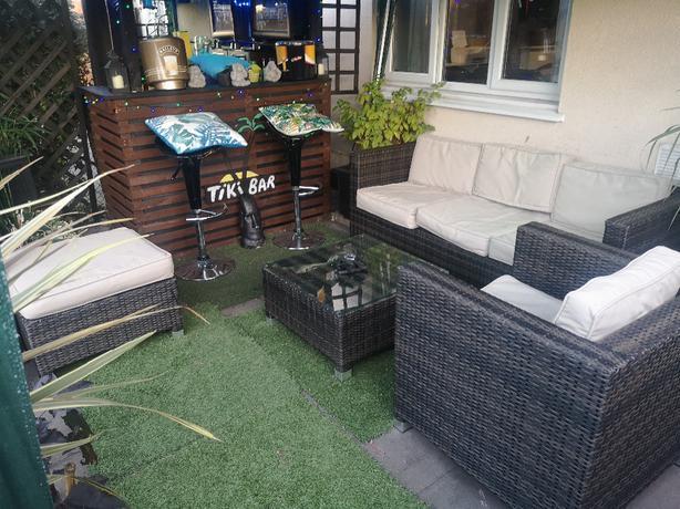 Rattan corner set
