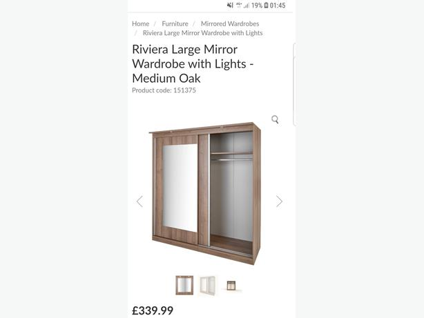 Slide Wardrobe With Lights from Range Has Been Repaired Can Deliver for £10