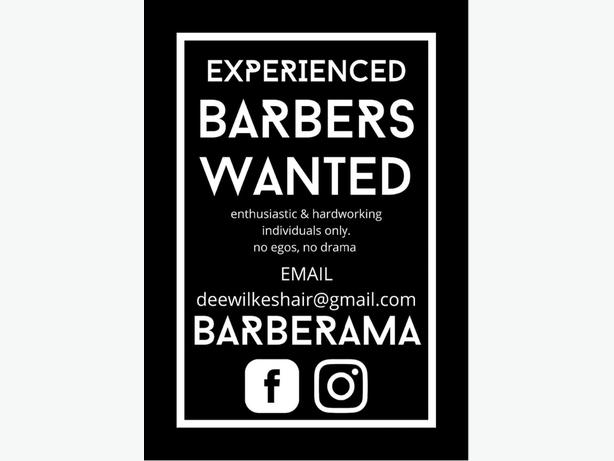 Experienced Barbers wanted for New shop In Dudley