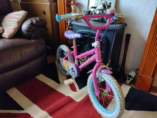 princess bike 14 inch wheels