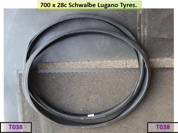 700 x 28c Schwalbe Lugano Tyres.