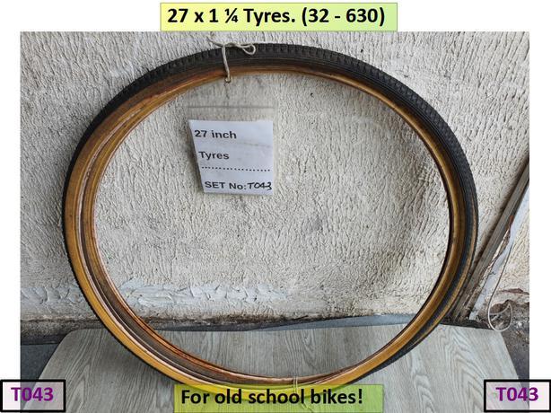 27 x 1 ¼ Tyres for old school bike