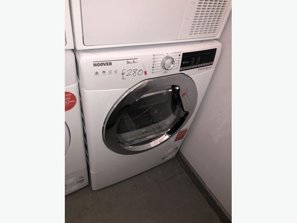 PLANET APPLIANCE- GRADED HOOVER 9KG CONDENSER DRYER- WITH 6 MONTHS GUARANTEE