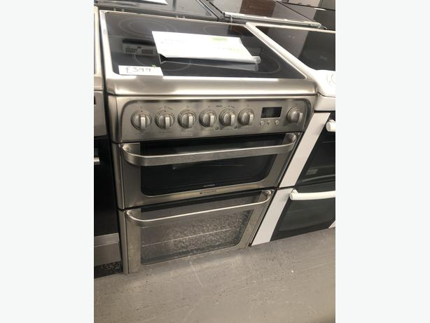PLANET APPLIANCE- GRADED HOTPOINT 60CM ELECTRIC COOKER- WITH 6 MONTHS GUARANTEE