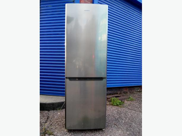 samsung stainless steel 6ft frost free fridge freezer+good workin order+DELIVERY