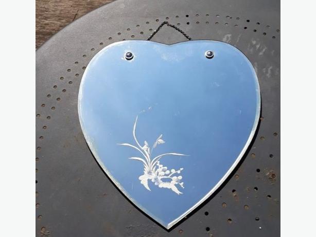 Vintage heart mirror
