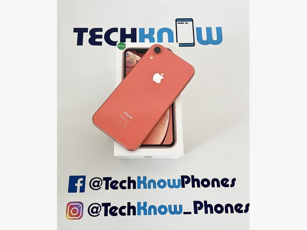 Apple iPhone XR 64GB unlocked Coral boxed £249.99 NO OFFERS
