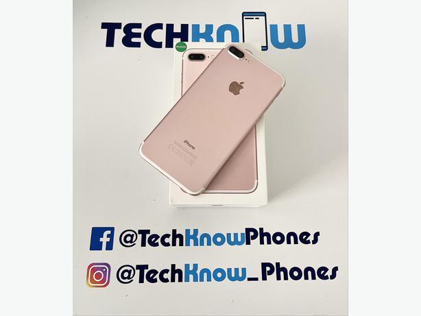 Apple iphone 7 plus 32GB unlocked Rose Gold £149.99