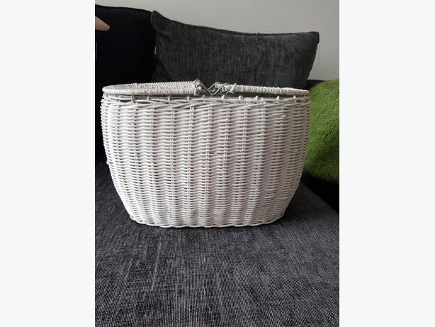 Bamboo wicker storage basket