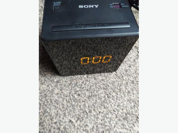 Black Sony ICF-C1 FM AM Dual Alarm Clock Radio