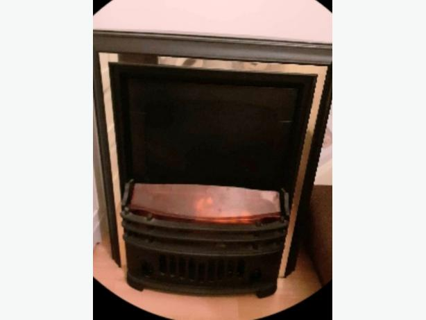 electric fire with coals good cond