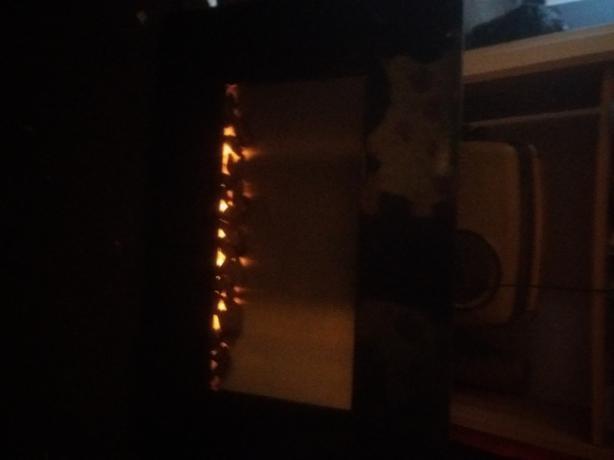 wall mounted electric plug in fire