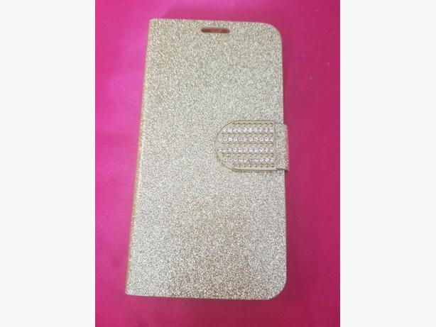 Gold mobile phone case.