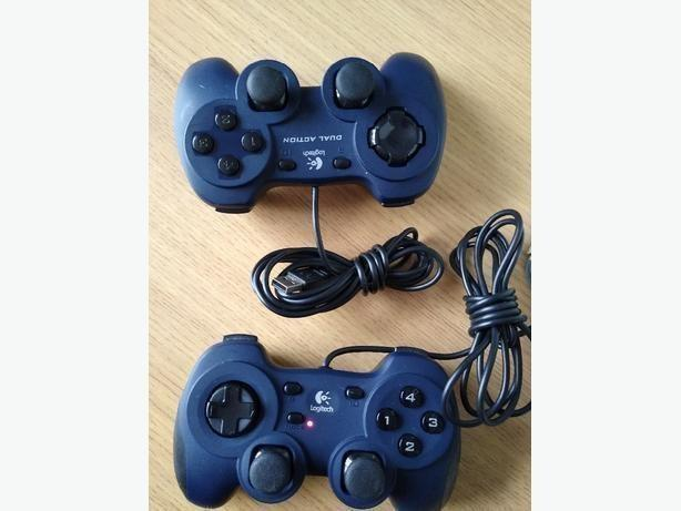 logitech dual action PC Game Pads controllers £8 each
