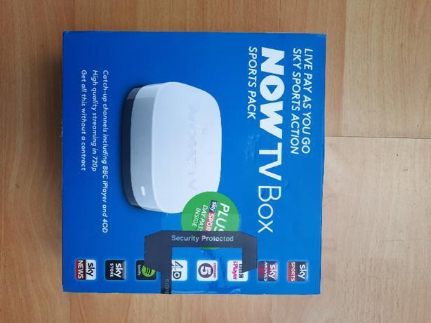 Brand New Now TV box Sealed Box Sports Pack white
