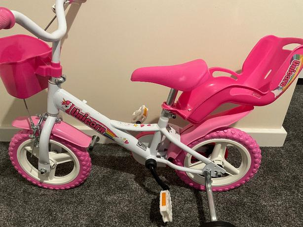 Unicorn girls bike