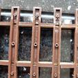 10 x tenmille gauge 1 brass track pieces. brand new.