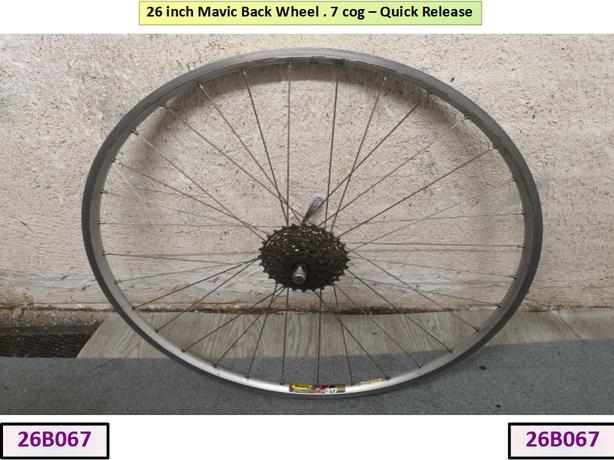 26 inch Mavic Back Wheel. 7 Cog.