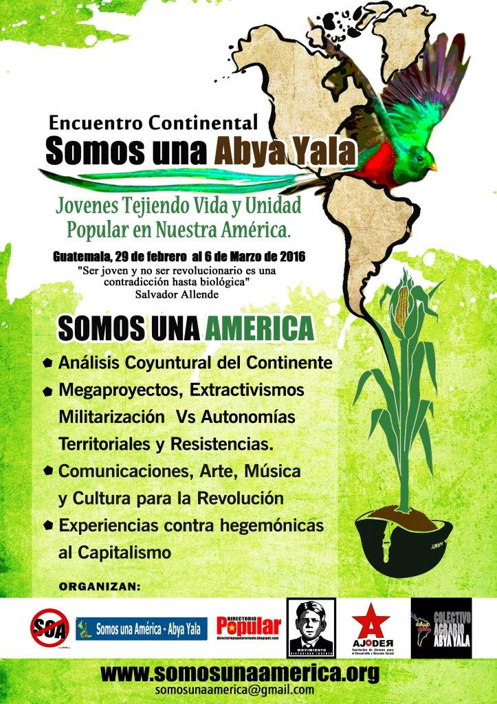 Afiche Encuentro Continental