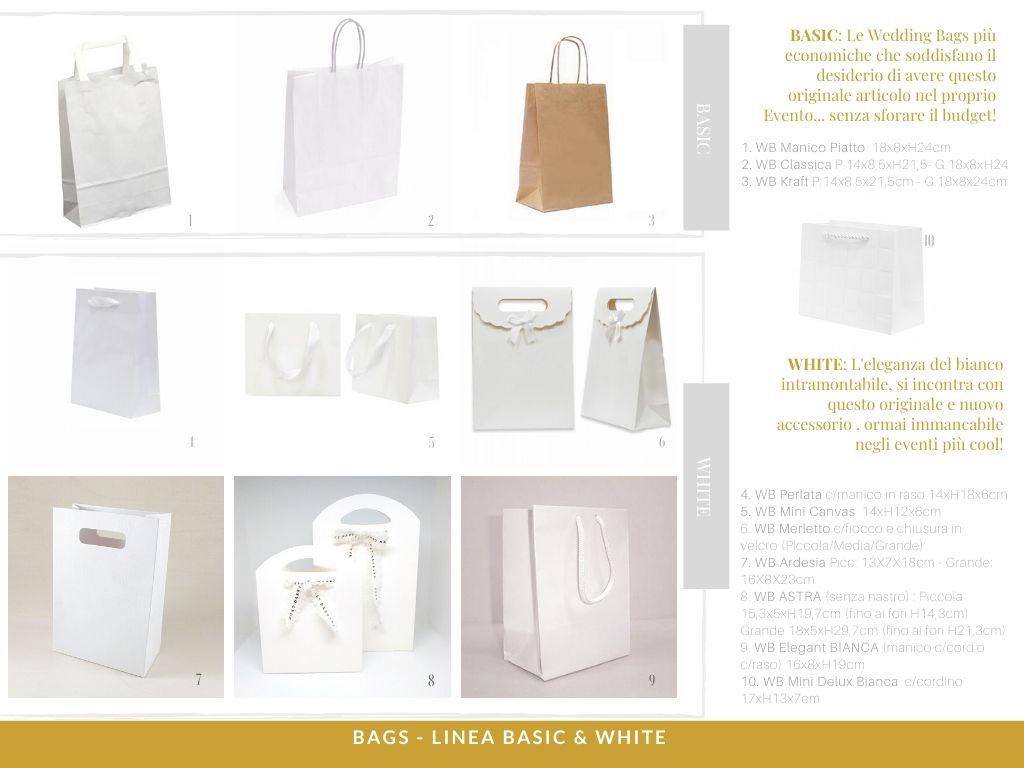 Paper Carrier Bags Bianco Piccolo Medio Grande SOS manico piatto da asporto tutte le taglie!!!