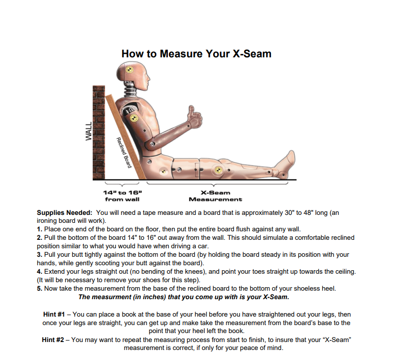 How to Measure Your X-Seam