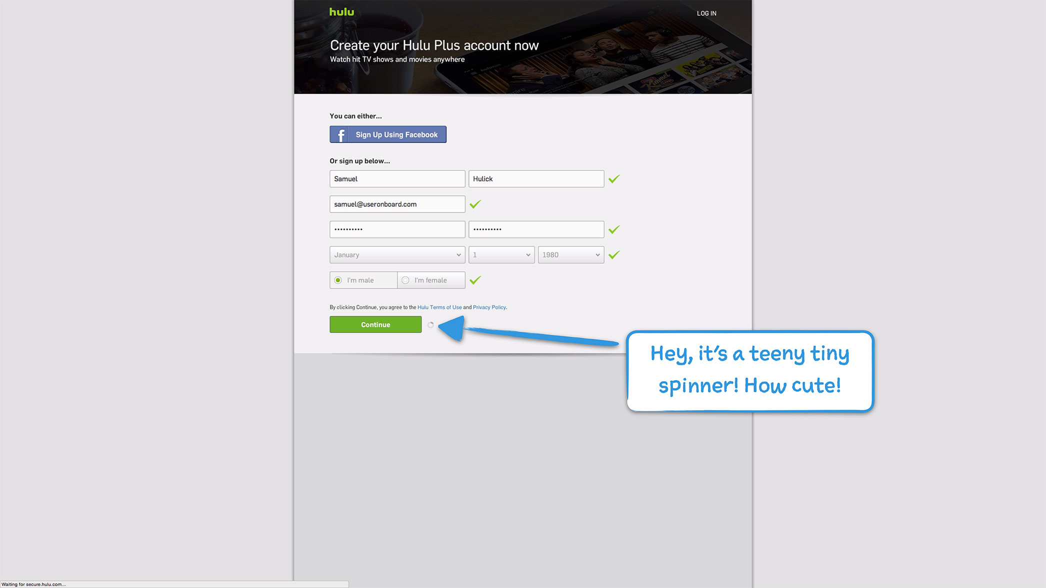 How Hulu Onboards New Users | User Onboarding