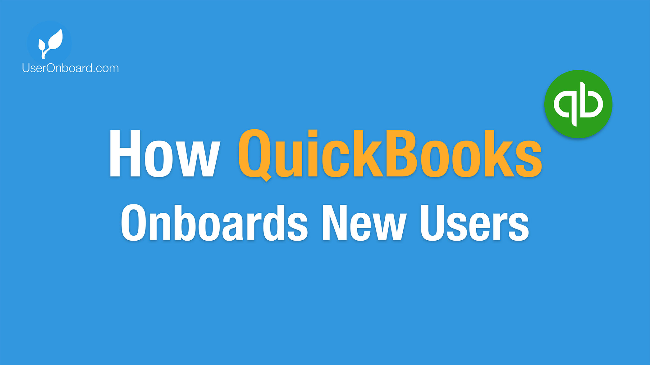 How QuickBooks Onboards New Users