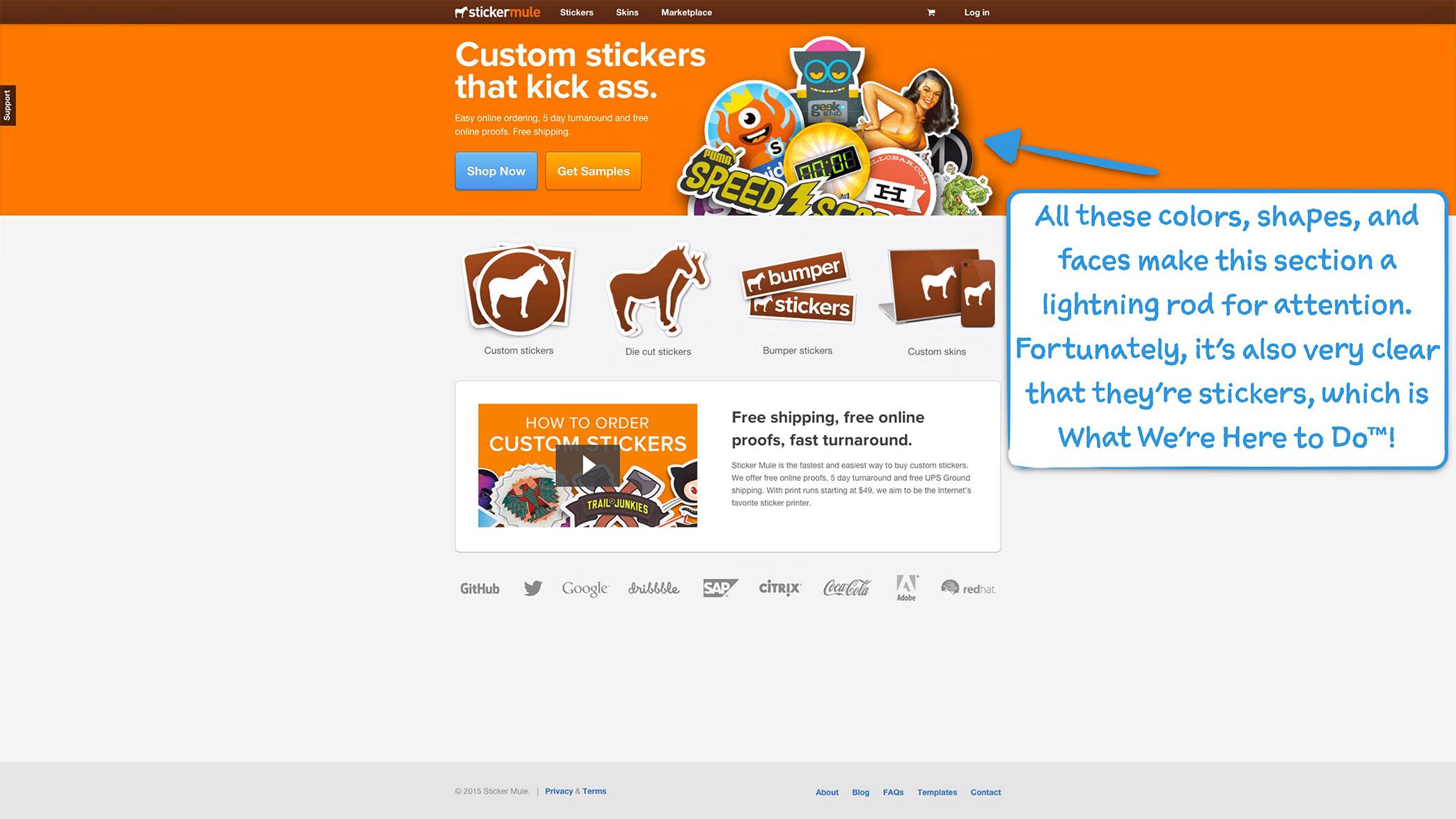 How sticker mule onboards new users user onboarding