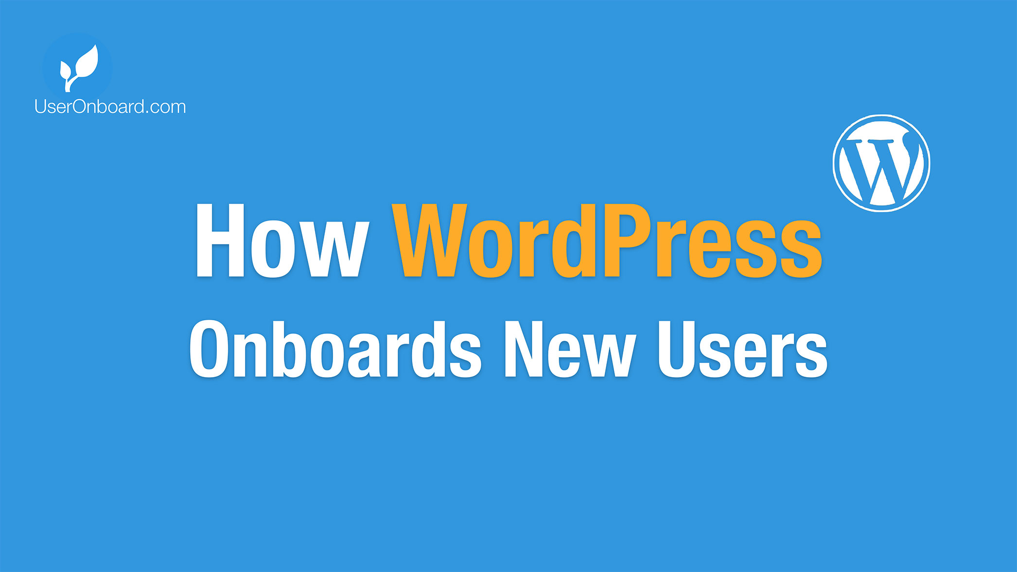 How WordPress Onboards New Users