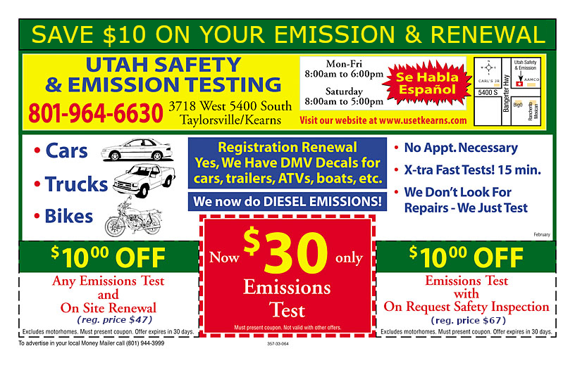 Safety and emissions coupons