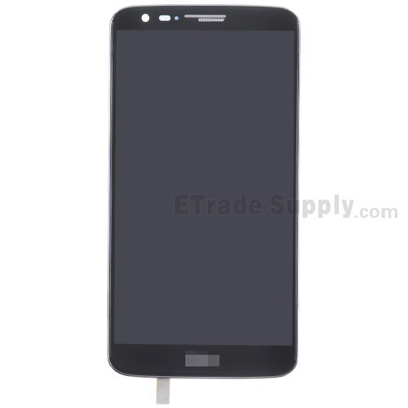 For LG G2 D800 LCD Screen and Digitizer Assembly with Front Housing Replacement - Black - With Logo - Grade S+