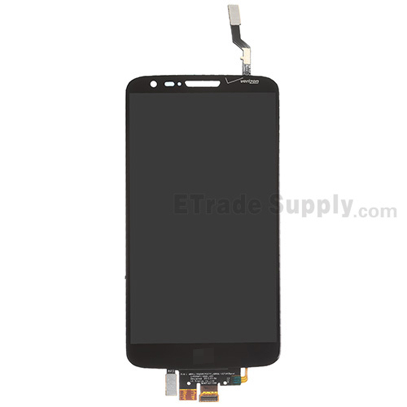 For LG G2 VS980 LCD Screen and Digitizer Assembly Replacement - Black - With Logo - Grade S+