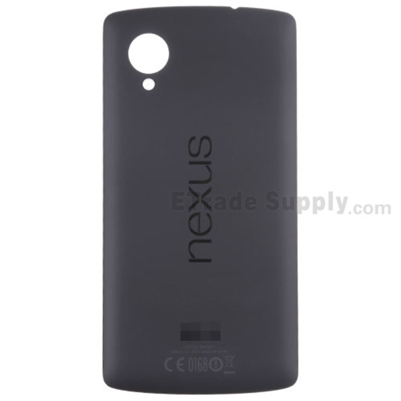 For LG Nexus 5 D820 Battery Door Replacement - Black - Grade S+