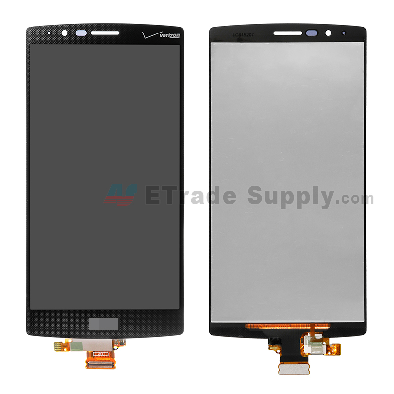 For LG G4 VS986 LCD Screen and Digitizer Assembly Replacement - Black - With Logo - Grade S+