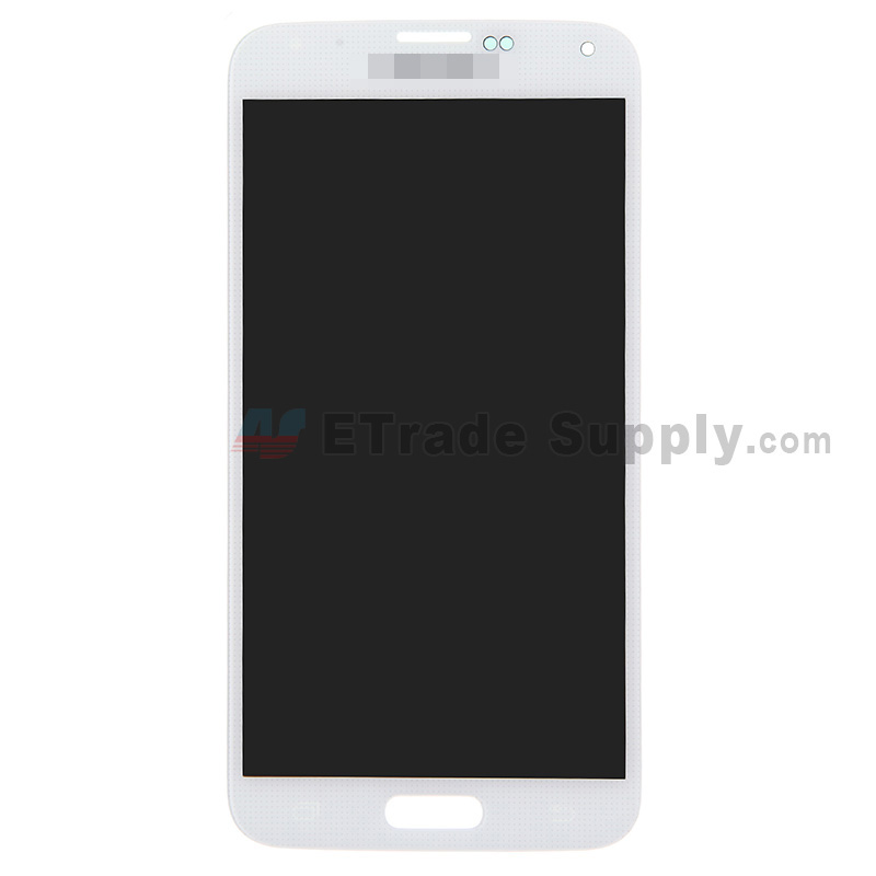 For Samsung Galaxy S5 Samsung-G900 LCD Screen and Digitizer Assembly Replacement - White - With Logo - Grade S+