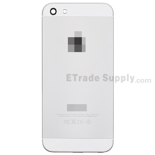 For Apple iPhone 5 Rear Housing Replacement - White - With Words - Grade S+