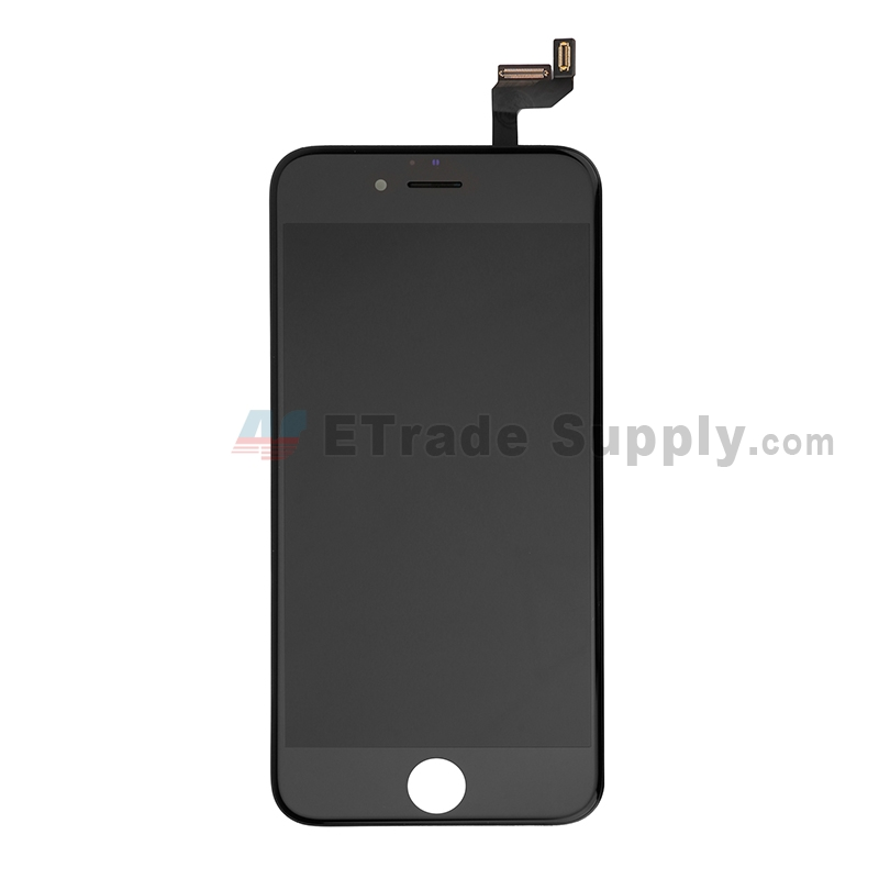 For Apple iPhone 6S LCD Screen and Digitizer Assembly with Frame Replacement - Black - Grade S