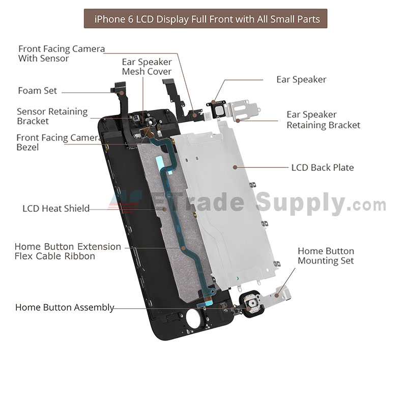 Apple iphone 6 lcd and touch screen assembly with frame and parts apple iphone 6 lcd and touch screen assembly with frame and parts etrade supply ccuart Images