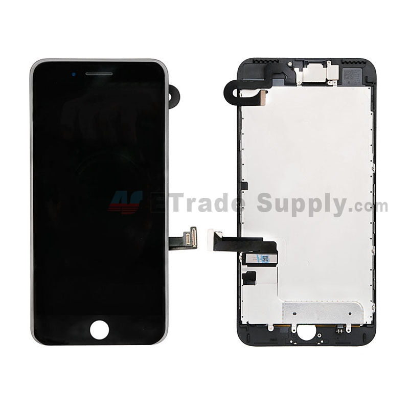 For Apple iPhone 7 Plus LCD Screen and Digitizer Assembly with Frame and Small Parts Replacement (Without Home Button) - Black - Grade S+