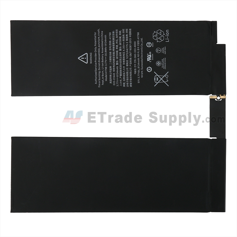 For Apple iPad Pro 10.5 Battery Replacement - Grade S+